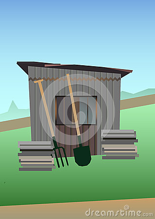 Free Old Garden Shed Royalty Free Stock Photo - 45245885
