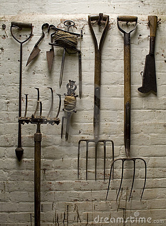 Old Garden Tools Stock Photo Image 4146080