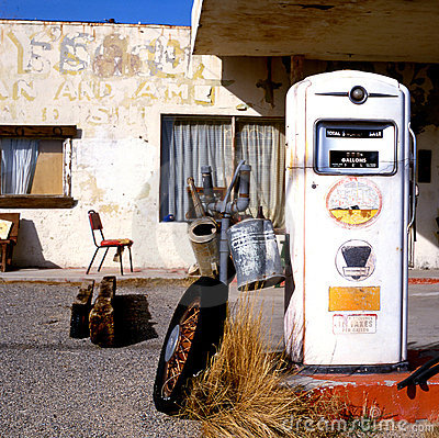 Old gas pump at Route 66