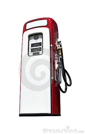 Old Gasoline Pump isolated