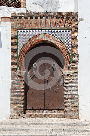 Old gate in Granada, Spain