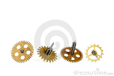 Old gears of clockwork