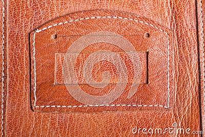 Old genuine leather pocket background