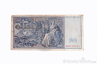 Old German bank note