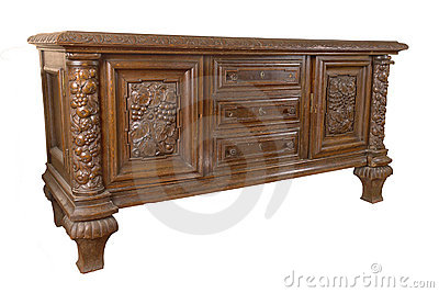 Old German chest of drawers