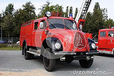 Old german fire brigade car Editorial Image