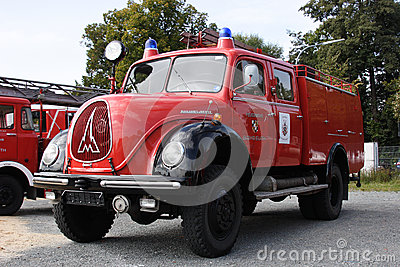 Old german fire brigade car Editorial Stock Image