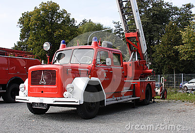 Old german fire brigade car Editorial Photography