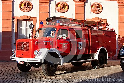 Old german fire brigade car - Magirus Deutz Editorial Image