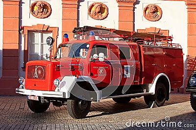 Old german fire brigade car - Magirus Deutz Editorial Image