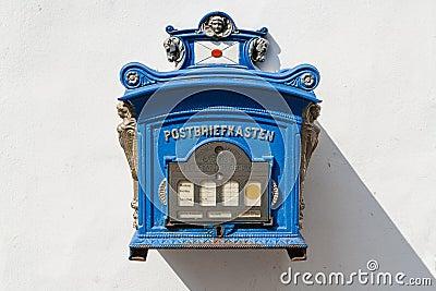 Old German public mailbox