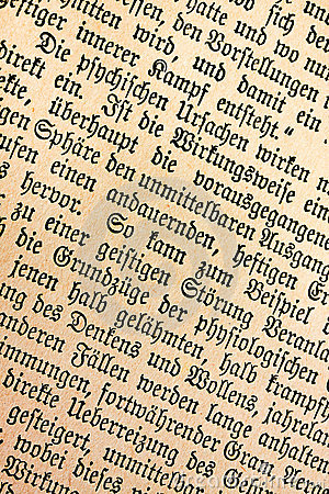 Old german text 1900
