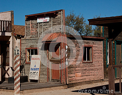 Old ghost town barber shop