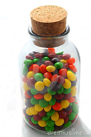 Old Glass Jar of Candy