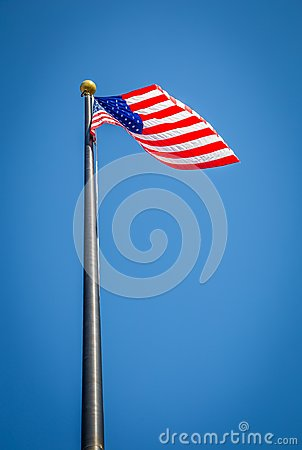 Free Old Glory At Full Staff Stock Photos - 103809843