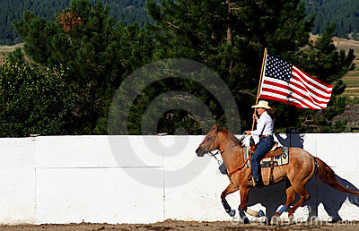 Old Glory Flying At The Fair Editorial Photo