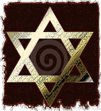 Old Gold Star Of David