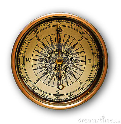 Free Old Golden Compass Stock Image - 5362461