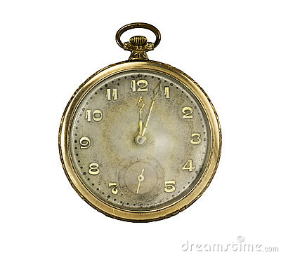 Old golden pocket watch #3
