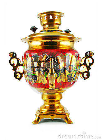 Free Old Golden Samovar Royalty Free Stock Images - 7082529