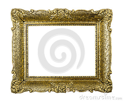 Old golden vintage picture frame