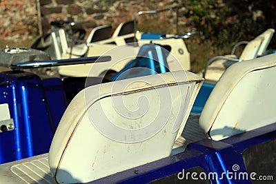 Old golf cart seats