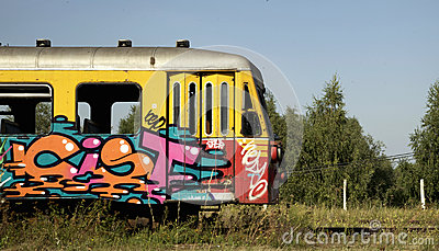 Old graffiti train