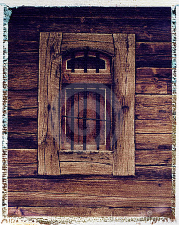 Free Old Grainery Window - Polaroid Image Transfer Royalty Free Stock Images - 3932429
