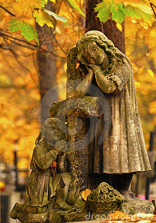 Old grave statue