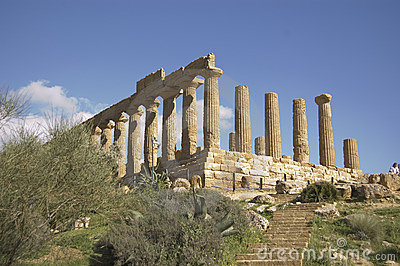 Old greek temple