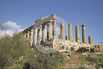 Old greek temple