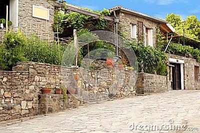 Old Greek village Parthenonas