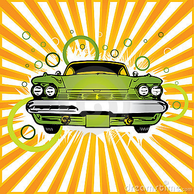 Free Old Green Car Royalty Free Stock Images - 3210899