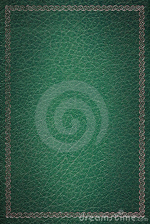 Free Old Green Leather Texture Gold Frame Stock Images - 3779974