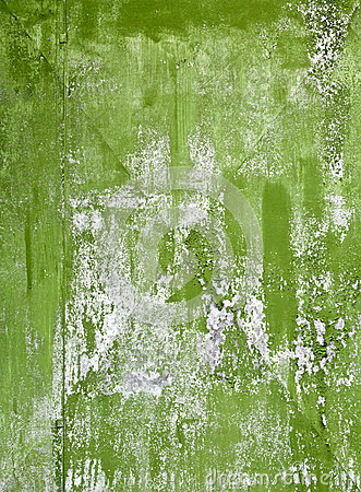 Old green painted steel sheet background texture