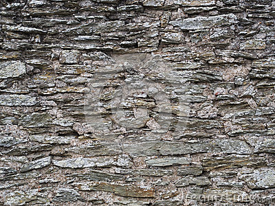 Old grey slate wall