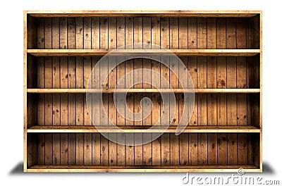 Old grung wood shelf background