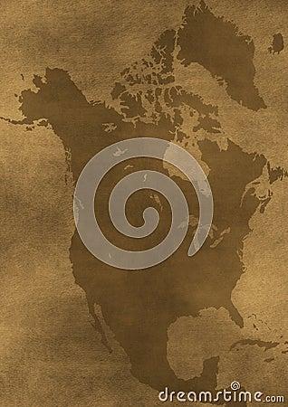 Old grunge America map illustration