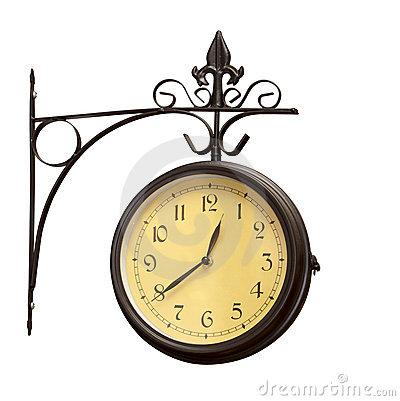 Free Old Grunge Antique Wall Clock Royalty Free Stock Photo - 16588855