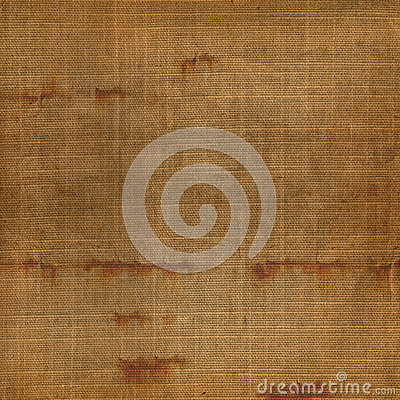 Old grunge background of shabby sackcloth