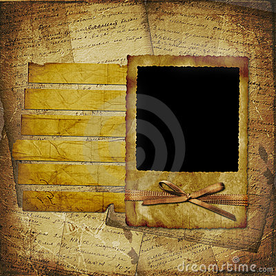 Old grunge frame on the abstract background
