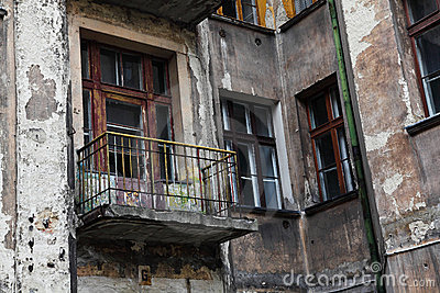 Old Grunge House In Lodz Centre Stock Photo Image 20518850