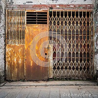 Old Grunge Iron Gate