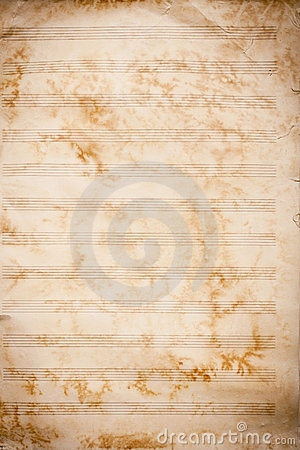 Old grunge music sheet texture.