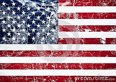 Old grunge united states flag