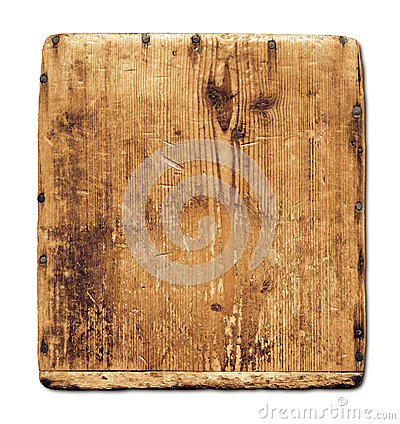 Free Old Grunge Wood Board Isolated On White Royalty Free Stock Image - 36043206