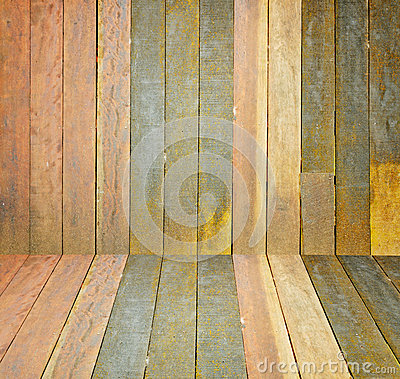 Old, grunge wooden wall used as background