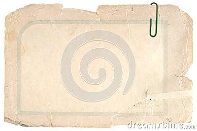 Old grungy cardboard
