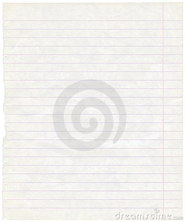 Old grungy lined exercise note paper texture