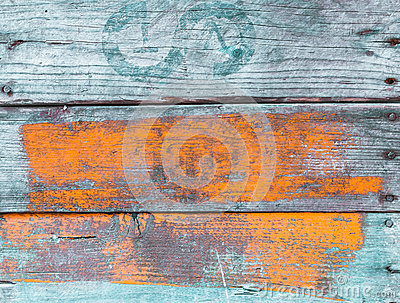Old grungy painted wood background